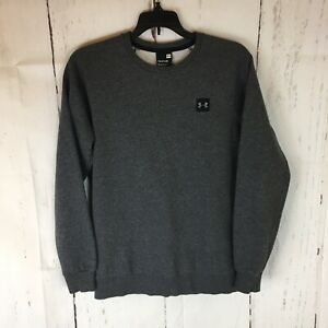 Under Armour Sweatshirt Men Small Long Sleeve Pullover Cotton Blend Gray