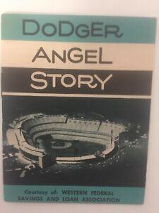 Vintage 1962 Los Angeles Dodgers & Angels Chavez Ravine schedule pamphlet.