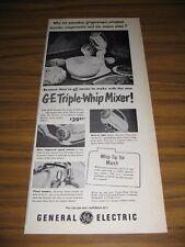 1951 Print Ad GE General Electric Triple-Whip Mixer Bridgeport,CT
