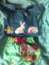 Next Baby Girls Bunny Rabbit Caravan Top & Floral Bloomers 3-6M