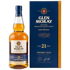 "(239,86€/L) Glen Moray 21 Years old ""Portwood Finish"" Whisky 46,3% vol. 07 Ltr."