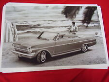 1962 CHEVROLET  NOVA CHEVY II CONVERTIBLE    BIG 11 X 17  PHOTO /  PICTURE