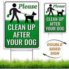 """Signs Authority Clean Up After Your Dog 12"""" X 9"""" Yard Metal Wire H-Stakes Quick"""