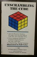 RARE Rubik UNSCRAMBLING THE CUBE Black & Taylor 38pp 1st Printing 1980 Rubik's