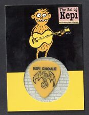 KEPI GHOULIE CARD COLLECTION: CUSTOM MADE GUITAR-PICK CARD Yellow Pick