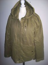 ZARA  PARKA JACKET COAT WITH  HOOD SIZE XS UK 6-8