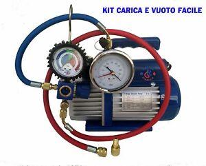 KIT CARICA E VUOTO POMPA 70 LT MANOMETRO RICARICHE GAS R410 R32 CONDIZIONATORE C