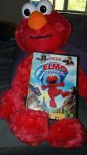 "LARGE 20"" SESAME STREET LIVE ELMO MUPPET PLUSH DOLL FIGURE with Elmo movie DVD"