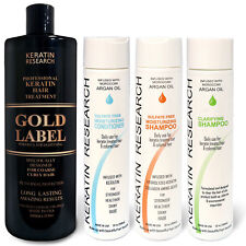 GOLD Label Keratin Blowout Treatment 4pc XL KIT Specifically for African Hair US