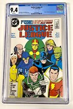 Justice League #1 CGC 9.4 D.C. Comics 5/87 First Appearance Maxwell Lord - wk