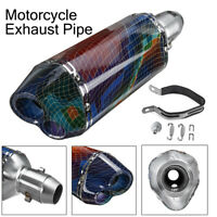 38-51mm Universal Motorcycle Exhaust Pipe Muffler Stainless Dual Outlet Scooter