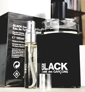 Comme des Garcons BLACK 1ml 3ml 6ml 10ml / Sample Samples Cologne Tar Incense