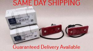 2015-18 MERCEDES G550 G63 W463 REAR  RED SIDE MARKER LIGHT LAMP LENS LED SET OEM