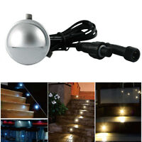 Waterproof 12V 0.4W Hallway Wall Stair Recessed Half Moon LED Deck Step Lights