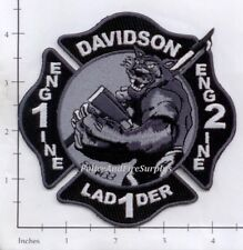 North Carolina - Davidson Engine 1 Enigne 2 Ladder 1 NC Fire Dept Patch