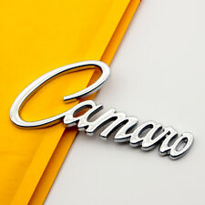 Metal Chrome Car Trunk Tailgate Camaro Letter Badge Sticker Rear Lid SUV Emblem