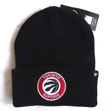 TORONTO RAPTORS '47 Brand Basketball Black DEEP CUFF Beanie Toque Hat NBA canada