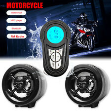 Waterproof Bluetooth Motorcycle Audio Radio Sound System Stereo Speakers MP3 USB