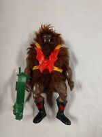 MOTU GRIZZLOR BLACK DARK FACE VARIANT He-Man RARE Complete