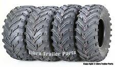 Set 4 Atv Tires 22x7-11 & 22x10-9 /6Pr Honda Recon 250 Suzuki Ozark -10333/10334