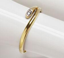 Schöner Damenring Schlangenring 14 Karat 585 Gold 1,3 g Gelbgold Brillant Gr. 55