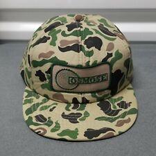 VTG Osmose Camo Snapback Trucker Hat Cardinal Cap Patch