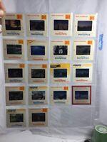 18 Lot Vintage Kodak Kodachrome Slides Panoramic Views Iceberg Sunset Canyon ...