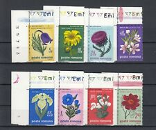 TIMBRE STAMP 8 ROUMANIE Y&T#2517-24 FLEUR FLOWER NEUF**/MNH-MINT 1970 ~B52