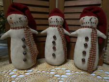 Primitive Weighted Bottom Snowman*Cupboard Tuck*Bowl Filler*Christmas*Winter*