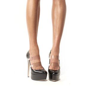 Womens Patent Leather Platform Pumps High Heels Party Stiletto Shoes Plus Size