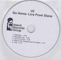 U2 - Go Home Live From Slane - Rare 2003 UK promo only 5 track CD