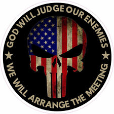REV God Will Judge Our Enemies We'll Arrange The Meeting Sticker Decal 4 inch