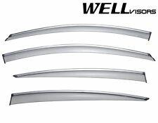WellVisors SLEEK HD Side Window Visors W/ Chrome Trim For 10-16 Buick LaCrosse
