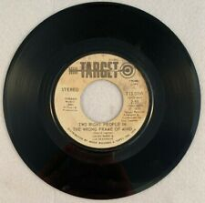 Jacky Ward Lia Seagrave TWO RIGHT PEOPLE...WRONG FRAME MIND Target Promo 45 rpm