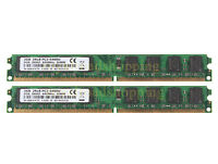 Lot 4GB 2X 2GB 2G Kit DDR2 800MHz PC2-6400U 240PIN DIMM intel CPU Desktop memory