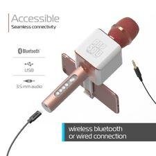 tzumi PopSolo Bluetooth Karaoke Microphone-Speaker  - Rose Gold