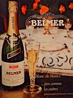PUBLICITÉ DE PRESSE 1973 BELMER GRAND BLANC DE BLANCS BRUT - VIN MOUSSEUX