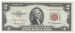 Nice CU Series 1953 A $2 Red Seal Star Note