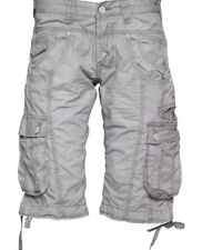 "New Mens 883 Police Seattle Forest Grey Cargo Shorts Size Waist 28 W 28"" RRP£49."