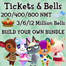 Nook Miles Tickets & Bells - Animal Crossing New Horizons - UNDER 1HR DELIVERY
