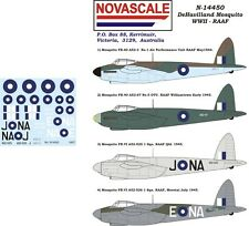 RAAF Mosquito WWII Decals 1/144 Scale N14450