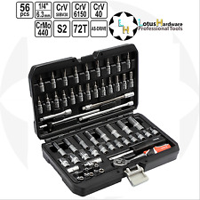 "Socket Set 1/4"" Quick release 56 pcs AS-DRIVE CrMo440 / S2 / CrV Yato YT-14501"