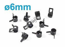 10pcs 6mm Metal Fuel Line Tube Clips Clamps, Black, US TH005-02302