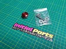 "Red 1""  Push Button Billet Hood Pins Universal Aluminum Quick Latch Lock Clip"