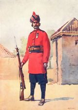 INDIA. Army. 22nd Punjabis Awan of Shahpur 1911 old antique print picture