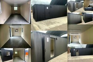 24ft x 9ft Open Plan Anti-Vandal Office Container - Grey - Nationwide Delivery