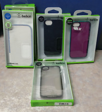 Lot of 5 Belkin Galaxy S4 iPhone 4/4s iPhone 5/5s Phone Grip Candy Sheer Cases