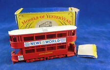 Matchbox Yesteryear Y3-1 1907 London E Class Tramcar Issue 6 Superb A Type box