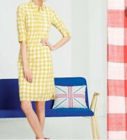 Boden Gingham  Yellow/White Shirt Dress~Sz -2US & 6UK ~Stylish~