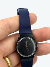 Swatch Standard watch Ladies black and blue - tested and working